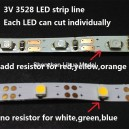 3528 LED strip line--each LED can cut