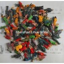 1:100 all standing color figures----model figures scale figures
