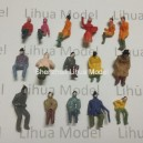 1:87 HO scale sitting figures----for model train layouts