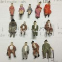 1:87 HO scale sitting boutique figures