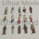 1:300 scale mixed boutique figures---for model train