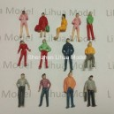 1:75 OO scale mixed figures-2----for model train layout